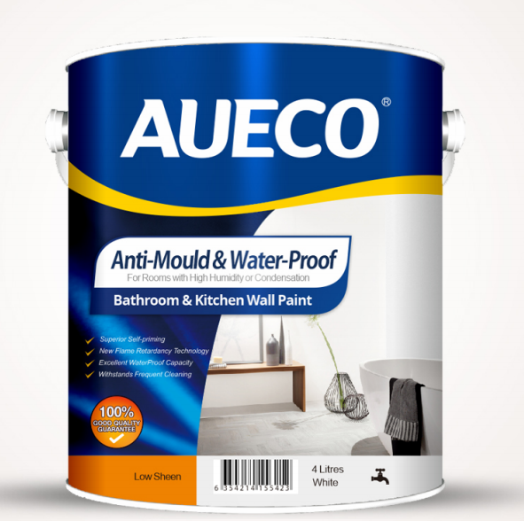 AUECO® Anti-Mould & Waterproof Kitchen Bathroom Wall Paint 4L