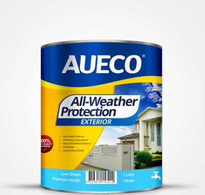AUECO® All-Weather Protection Premium Acrylic Exterior Wall Paint 1L