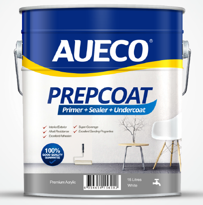AUECO® 3 In 1 Primer + Sealer + Undercoat Preparation Wall Paint 15L