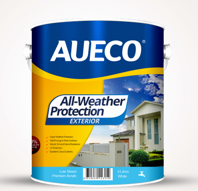AUECO® All-Weather Protection Premium Acrylic Exterior Wall Paint 4L