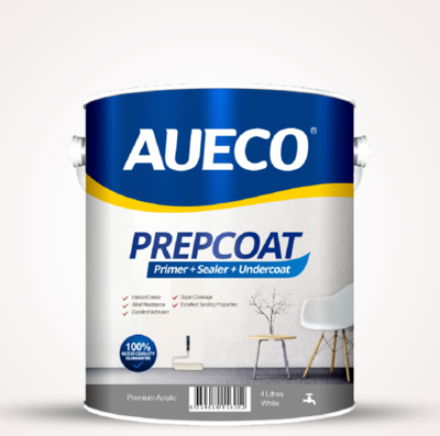 AUECO® 3 In 1 Primer + Sealer + Undercoat Preparation Wall Paint 4L