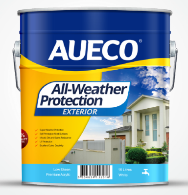 AUECO® All-Weather Protection Premium Acrylic Exterior Wall Paint 15L