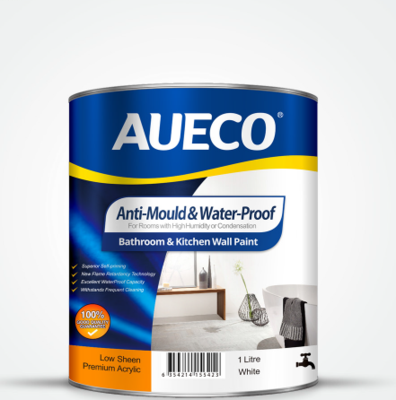 AUECO® Anti-Mould & Waterproof Kitchen Bathroom Wall Paint 1L