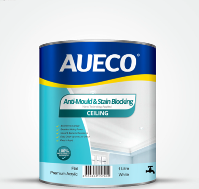AUECO® Anti-Mould & Stain Blocking Ceiling Paint 1L