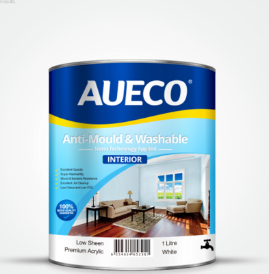 AUECO® Professional Anti-Mould &Washable Interior Wall Paint 1L